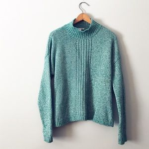 Halogen Oversized Mock Turtleneck Knit Sweater